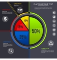 Pie chart - business statistics with icons vector image vector image
