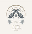 pistols revolvers in vintage style vector image