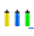 plastic bottle for bicycle isolated on whit vector image vector image