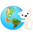 Polar Bear Earth Day vector image vector image