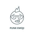 Punk emoji line icon linear concept