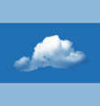 realistic cloud over blue sky background vector image vector image