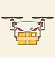 remote air drone with a box vector image