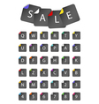 Sale and Letter Icons vector image vector image