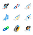 search engine optimize concept icons vector image