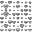 sensuality background with hearts vector image vector image