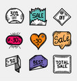 set colorful hand drawn sale tags best price vector image vector image