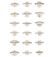 Set of vintage retro logotype templates Collection vector image vector image