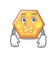 silent hexagon mascot cartoon style vector image vector image