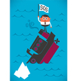 Sinking Ship vector image vector image