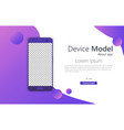 smartphone mockup phone vector image vector image