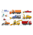 snow removal winter machine snowplow vector image