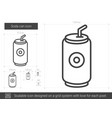 soda can line icon vector image vector image