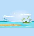 summer season background vector image vector image
