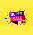 super sale abstract design vector image vector image