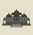 swaminarayan akshardham hindu temple black vector image