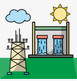 tanks hydraulic energy and energy tower vector image vector image