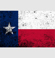 texas state flag grunge vector image vector image