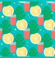 tropical cocktail seamless pattern vector image vector image