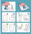 USA coloring book Patriotic Statel Symbols Ameri vector image vector image