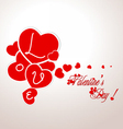 Valentine with hearts vector image vector image
