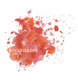 Watercolor background with splashes vector image vector image