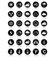 Weather round icons set vector image vector image