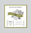 wedding invitation floral card vector image