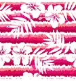 White flowers and grunge pink stripes seamless vector image vector image