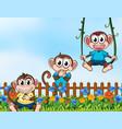 wild animal in garden vector image vector image