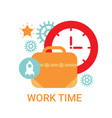 work time icon working process organization vector image