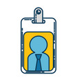 worker badge isolated icon vector image vector image