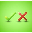 Yes or No icons vector image