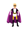 young man in classic superhero costume and a vector image