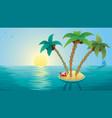 small island landscape sunrise vector image