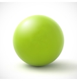 Green sphere on white background vector image