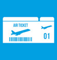 Airline boarding pass icon white