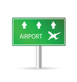 airport sign green vector image vector image