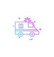 ambulance car emergency medical icon desige vector image vector image
