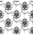 Black and white paisley floral pattern vector image vector image