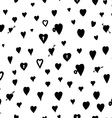 Black Love Heart Padlock Pattern Doodle Background vector image vector image
