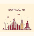 buffalo skyline new york usa linear style vector image vector image