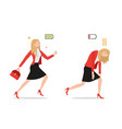 businesswomanset powerful businesswoman vector image vector image