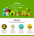 camping web design vector image