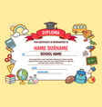 cartoon school diploma vector image