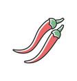 chilli pepper rgb color icon vector image