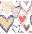 Colorful seamless heart pattern vector image