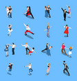 dances professional performers isometric people vector image