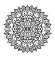 decorative floral mandala design vector image vector image