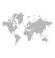 detailed mercatore grey world map vector image